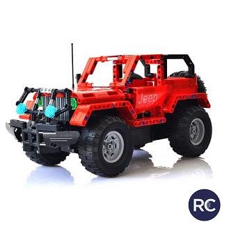 Jeep Wrangler - do zbudowania z klocków - ZDALNIE STEROWANY (C51001W)