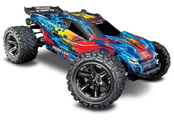 67076-4-Rustler-4×4-VXL-Red-3QTR-FRONT